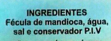 Tapioca - Ingredients