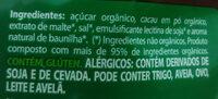 Achocolatado orgânico - Ingredientes - pt