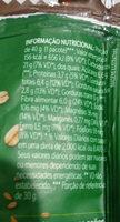 Cookies Orgânicos - Informação nutricional - pt
