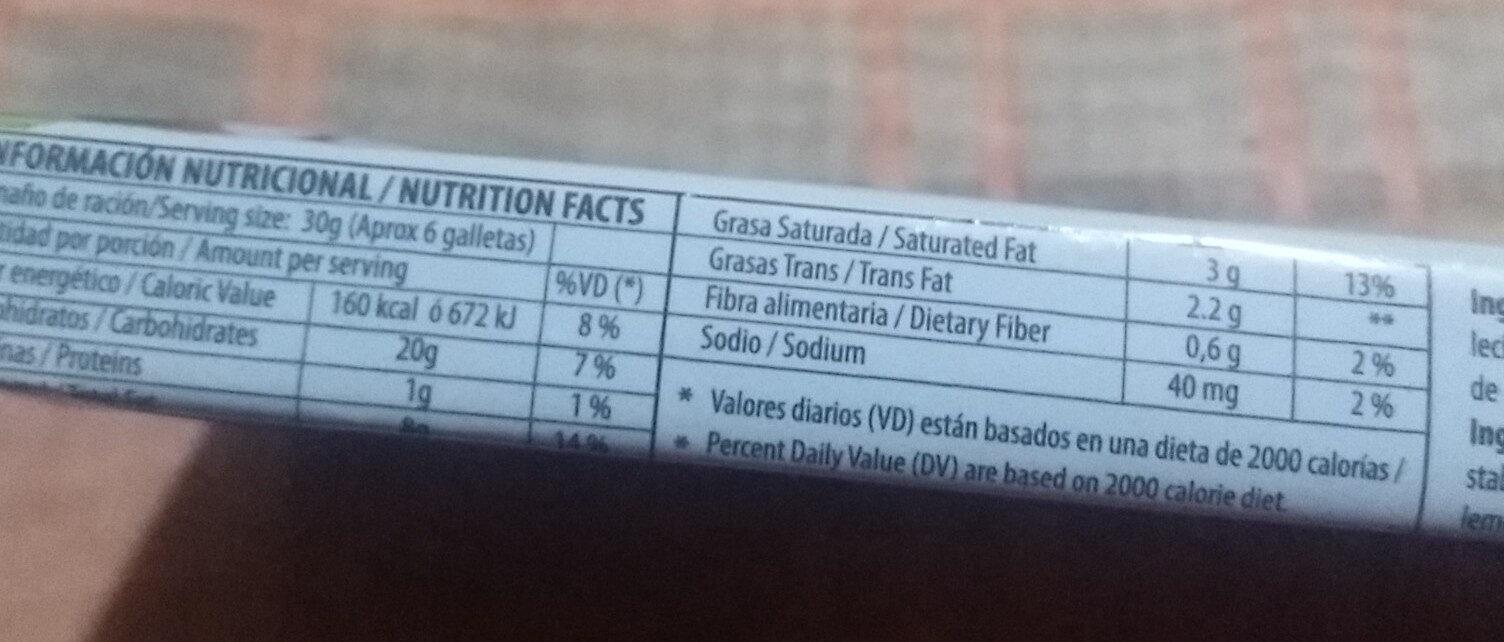 Wafles Caricia - Informations nutritionnelles - es