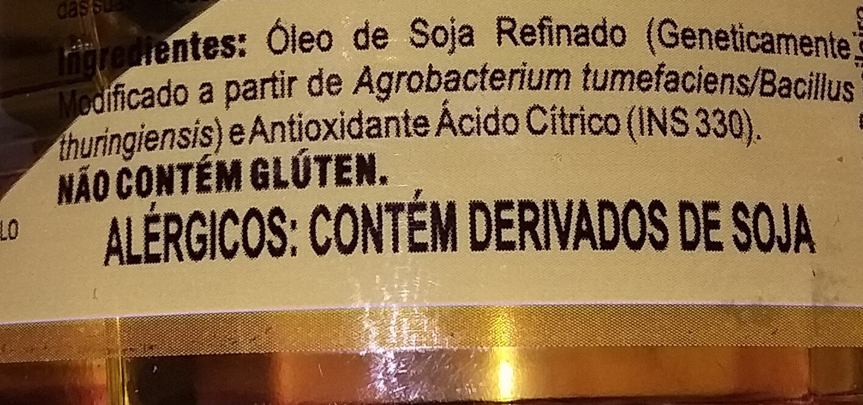 Óleo de soja - Ingredientes - pt