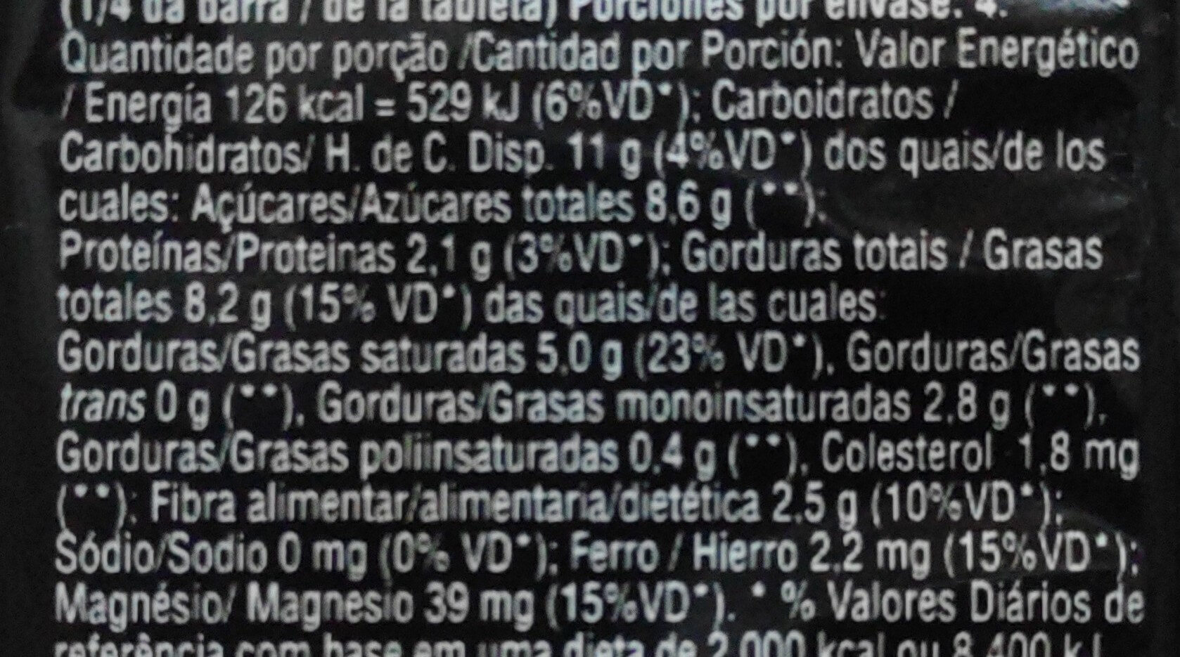 Special Dark Hershey's Laranja - Informação nutricional - pt