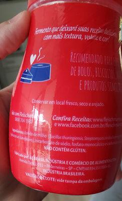 Fermento Químico em pó - Ingrédients