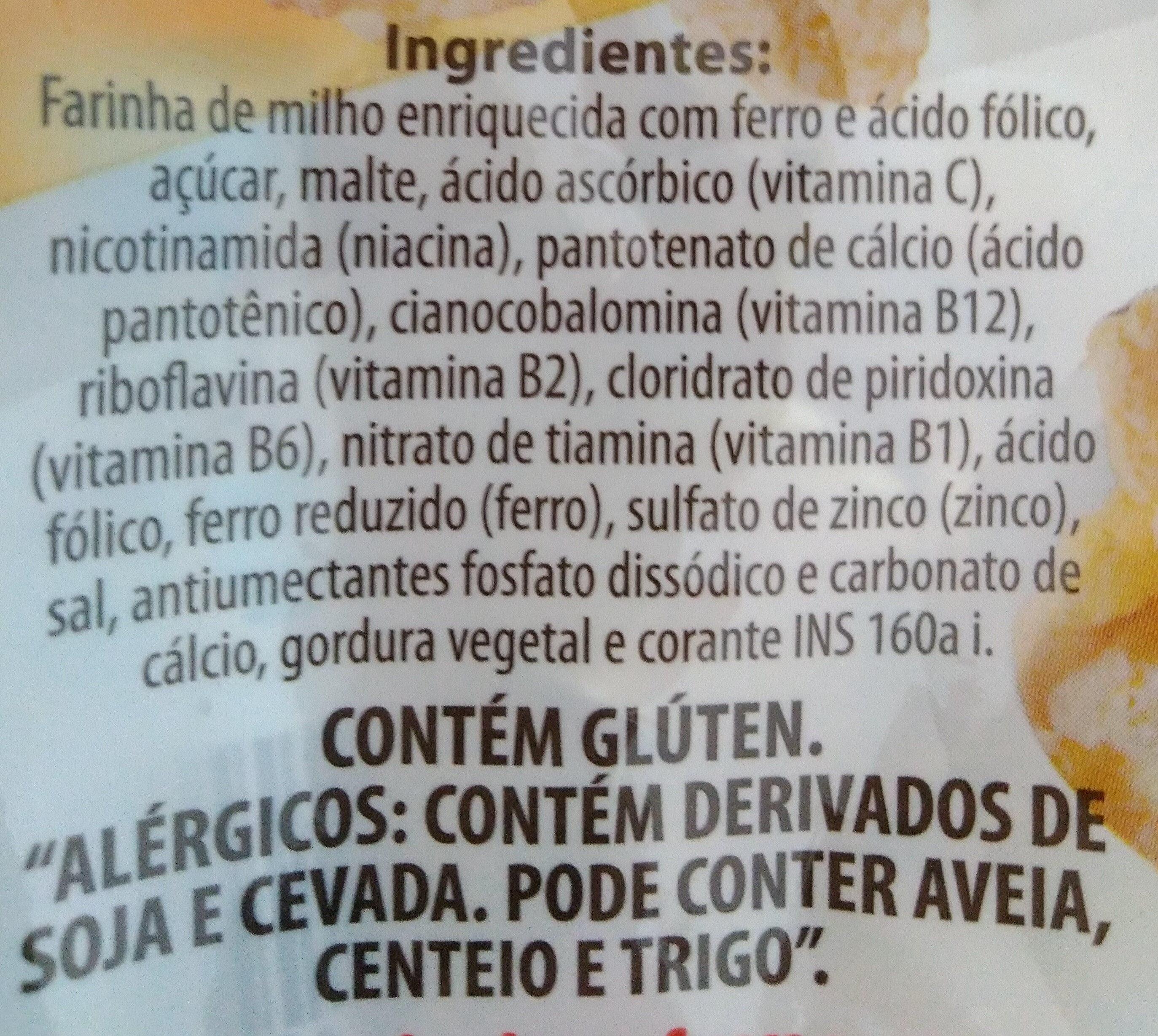 flocão de milho contem gluten
