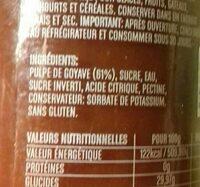 Sauce Goyave - Ingredientes - fr