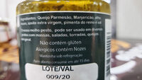Molho Pesto - Ingredientes - pt