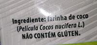 Farinha de Coco Sem Gluten - Ingredientes - pt