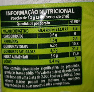 Farinha de Coco Sem Gluten - Informação nutricional - pt