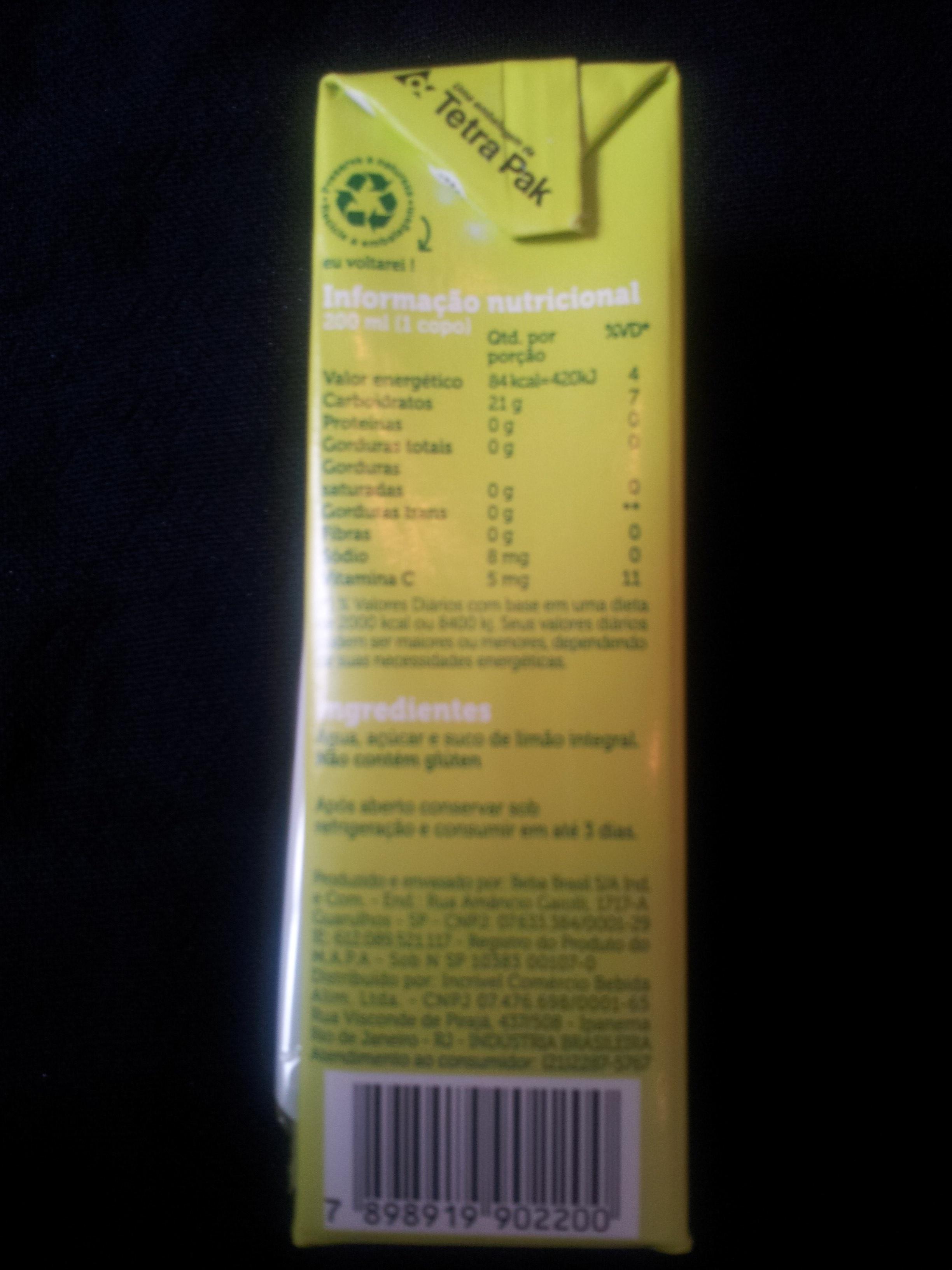 Limonada DoBem - Ingredients