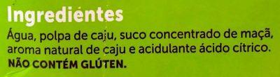 Todo dia - Caju - Ingredients - pt