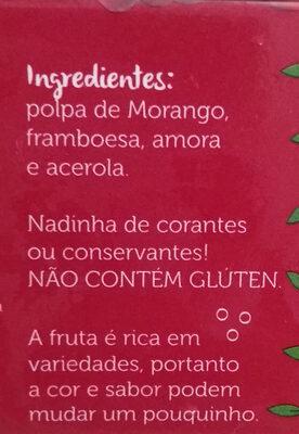 Polpa Mista de Frutas Vemelhas - Ingredients - pt