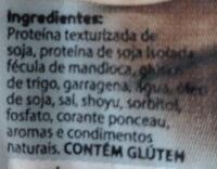Mortadela de soja fatiada - Ingredientes - pt