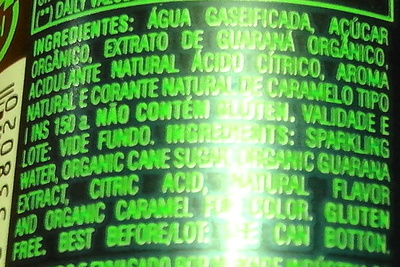 Guarana Natural zero sodio sem co conservantes sem ingredientes artificials - Ingredients