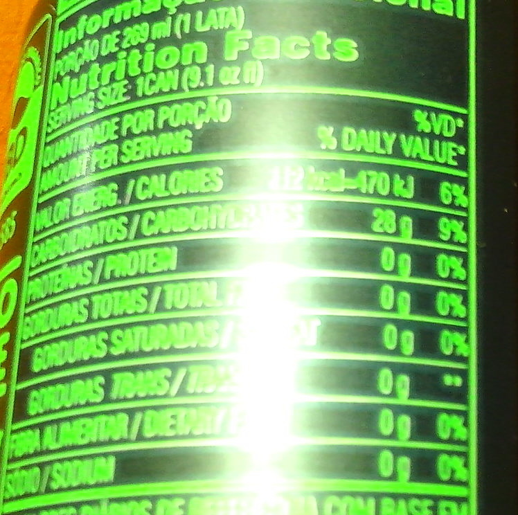 Guarana Natural zero sodio sem co conservantes sem ingredientes artificials - Nutrition facts
