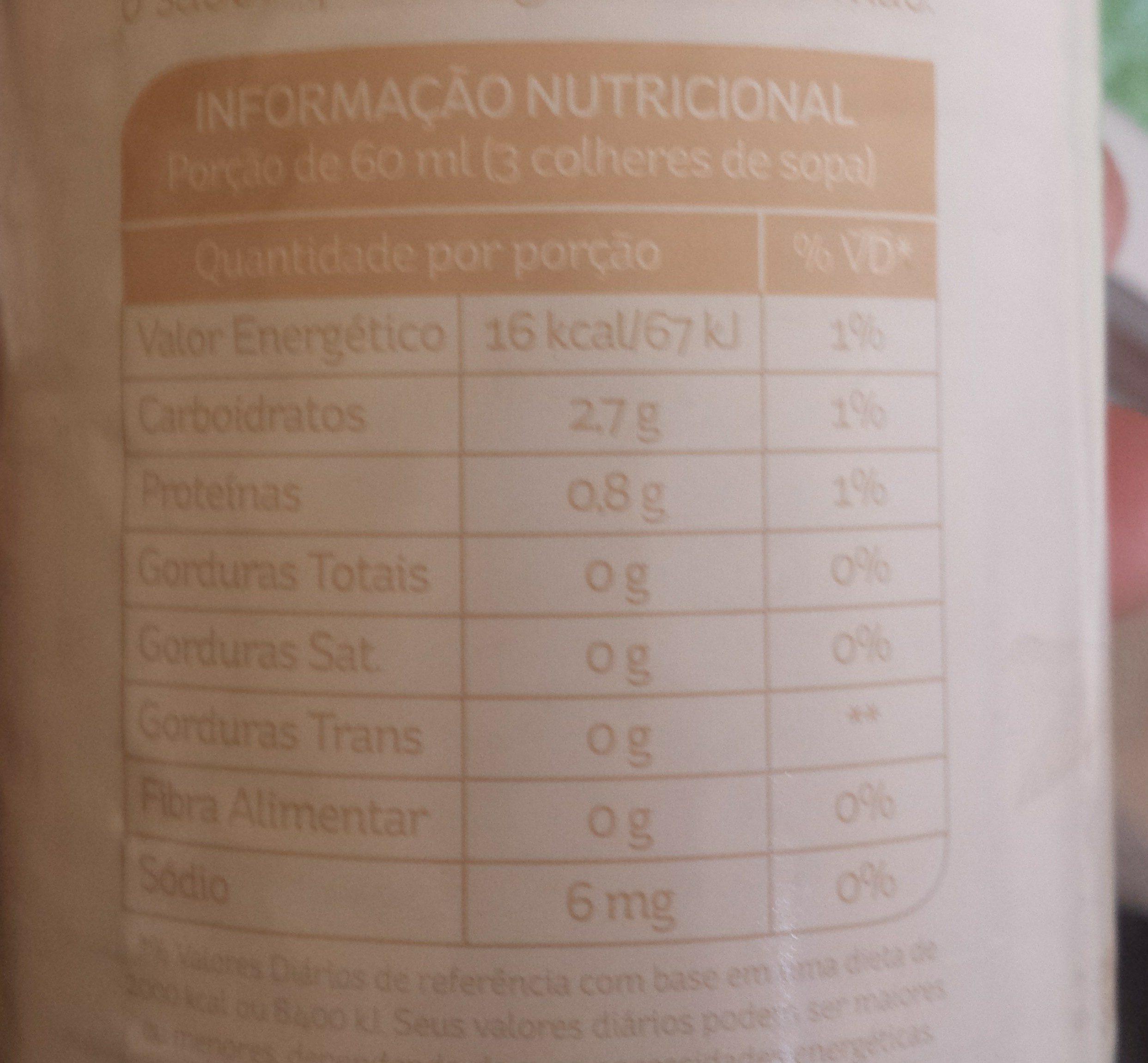 Tomate sem pele - Nutrition facts