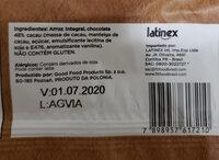 Biscoito de Arroz com Chocolate Amargo - Ingredientes - pt