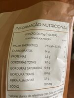 Mais pura - Informação nutricional - pt