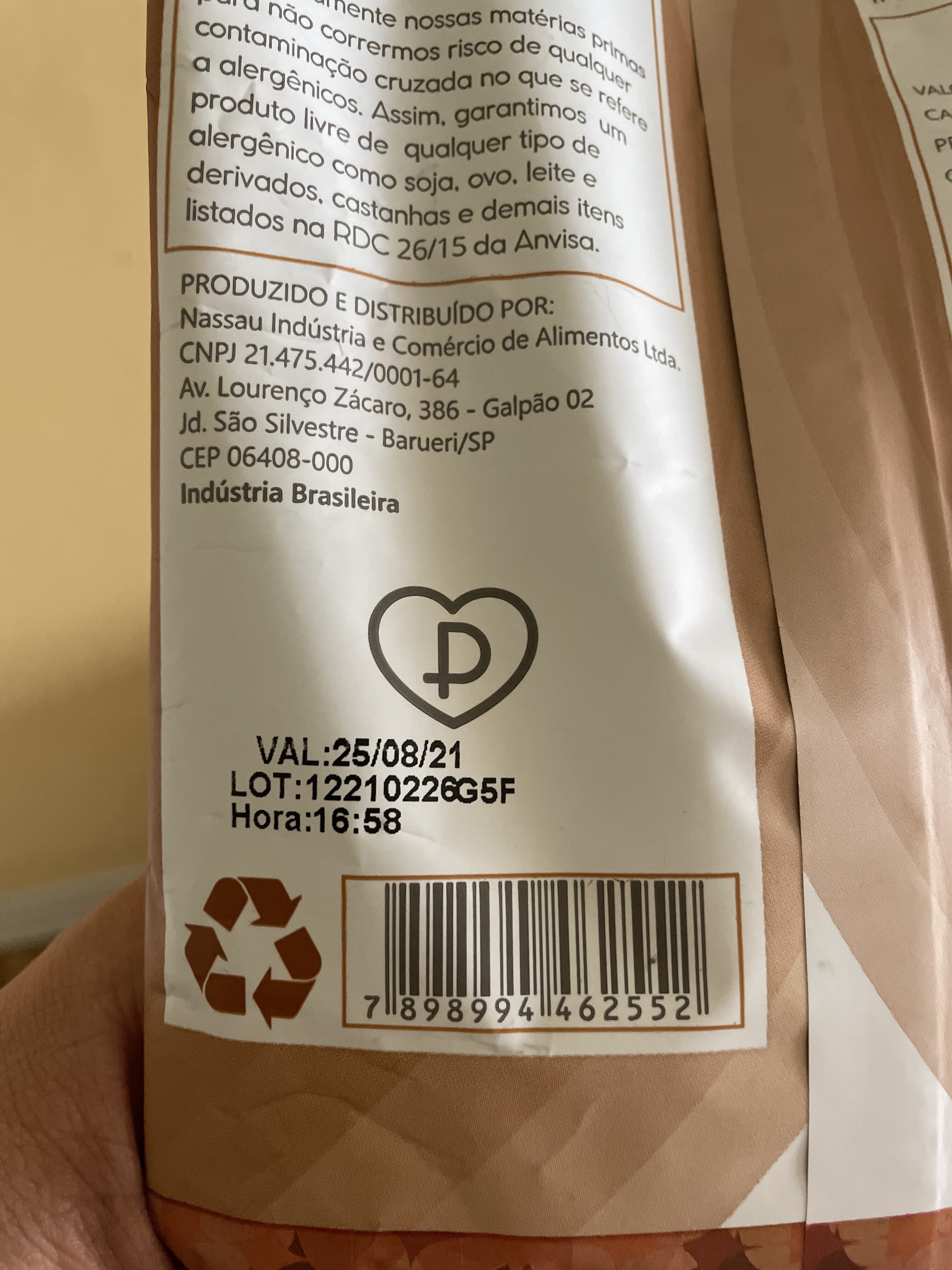 Mais pura - Recycling instructions and/or packaging information - pt