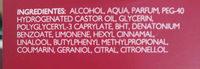 Desodorante spray corporal perfumado cereza y avellana - Ingredientes