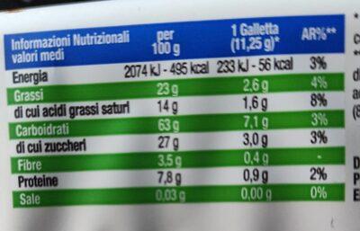Gallette di riso al cioccolato al latte - Nutrition facts - it
