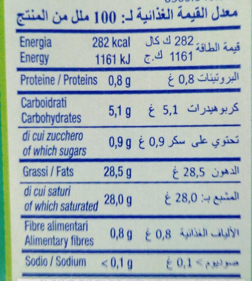 Hopla, crème liquide végétale - Informations nutritionnelles - fr