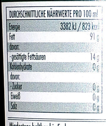Originale - Informazioni nutrizionali - de