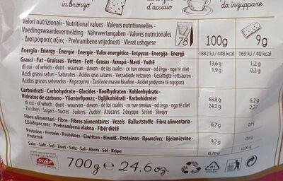 Di Leo Bisc. caser. paesani Integr. gr. 700 - Nutrition facts - it