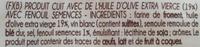 Tarallini con DEMI di FINOCCHIO - Ingrédients - fr