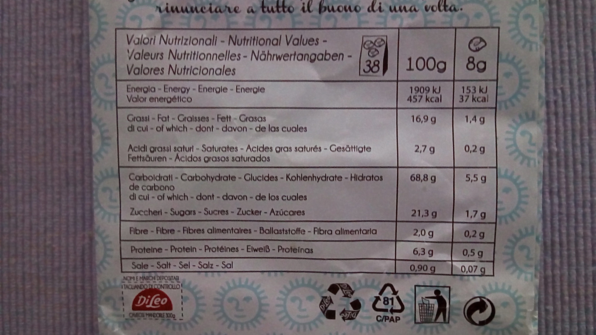 Caveosi - Informations nutritionnelles - fr
