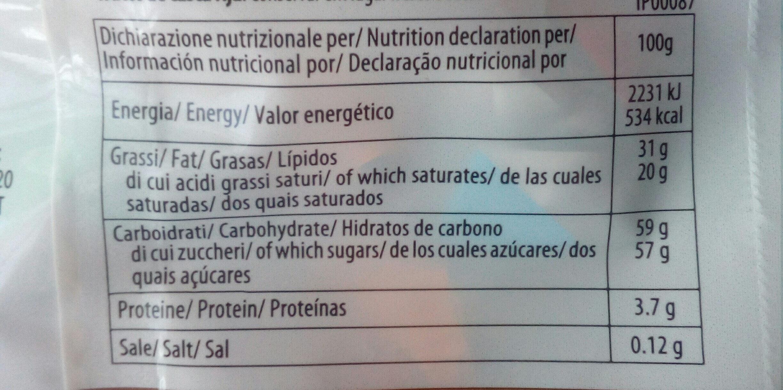Palinés surtidos de chocolate con leche y chocolate extra negro - Información nutricional - es