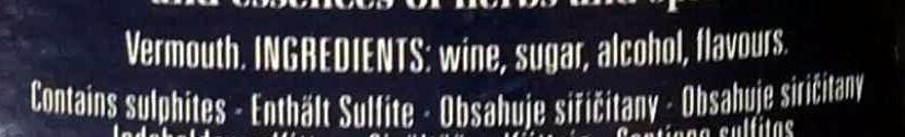 Cinzano Bianco - Ingredients