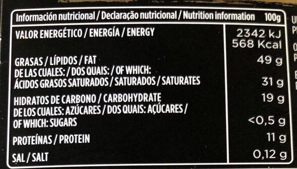 Chocolate negro 85% stevia - Nutrition facts - es