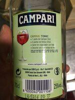 Campari - Ingrediënten - fr