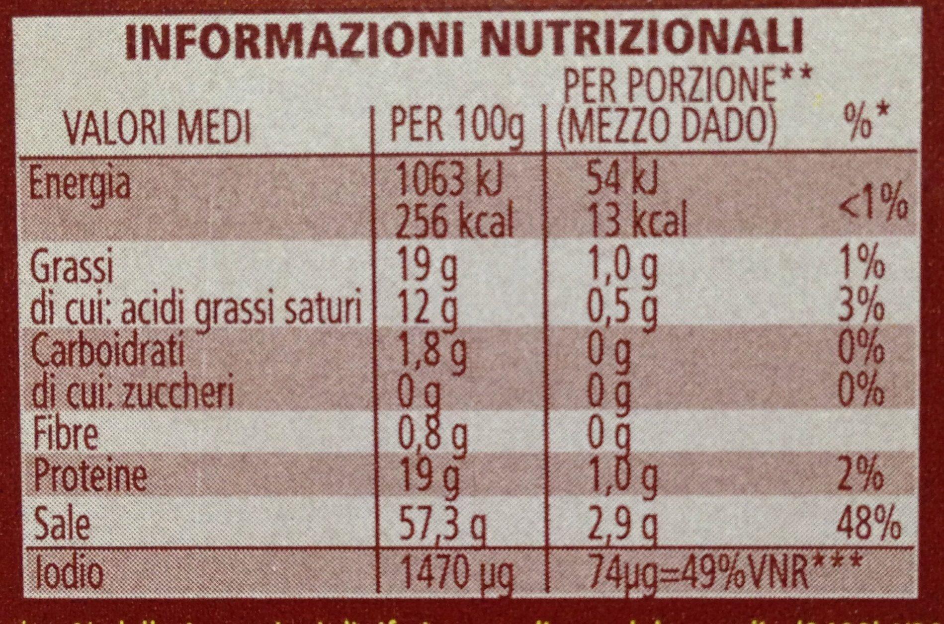 Star, il mio dado funghi porcini - Valori nutrizionali - en