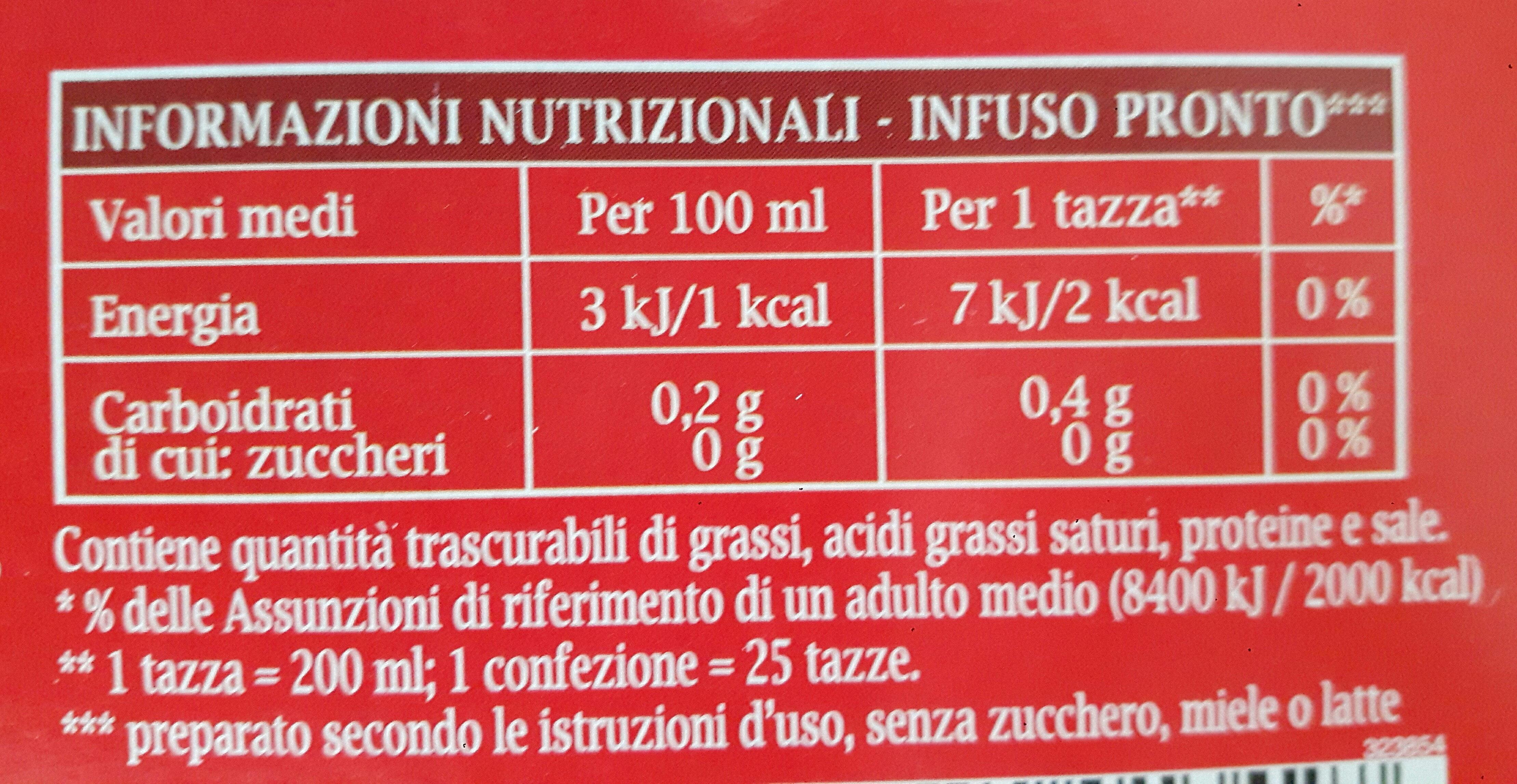 Star Tea Classico X25 - Informations nutritionnelles - it