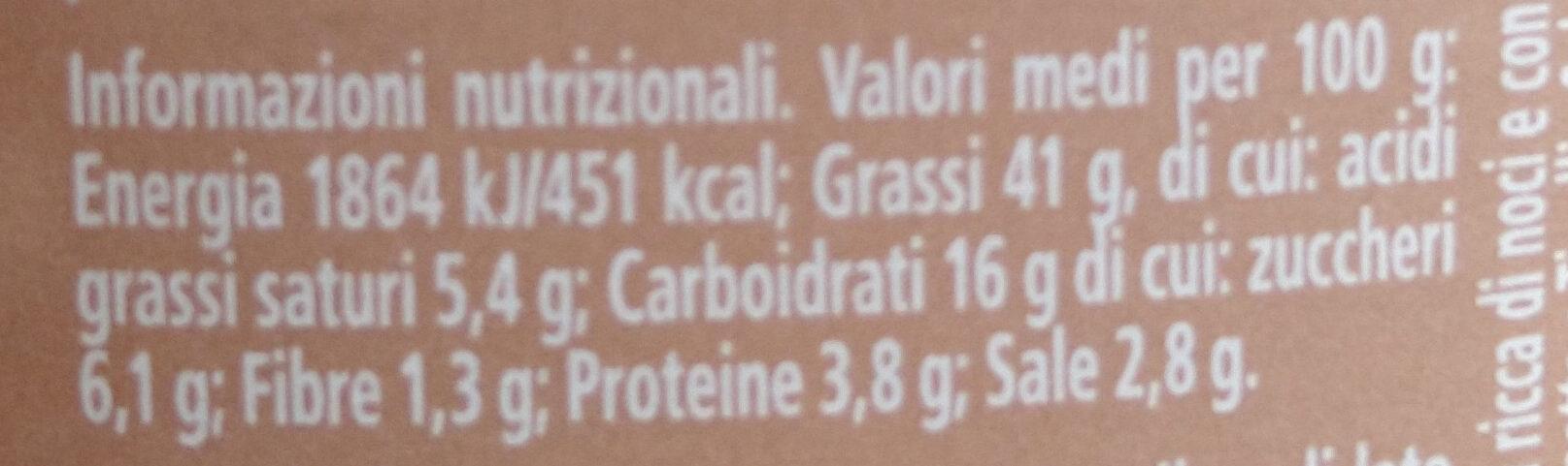salsa di noci - Informazioni nutrizionali - it