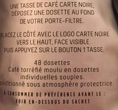 Dosettes de café moulu Espresso n°8 - Ingredients - fr