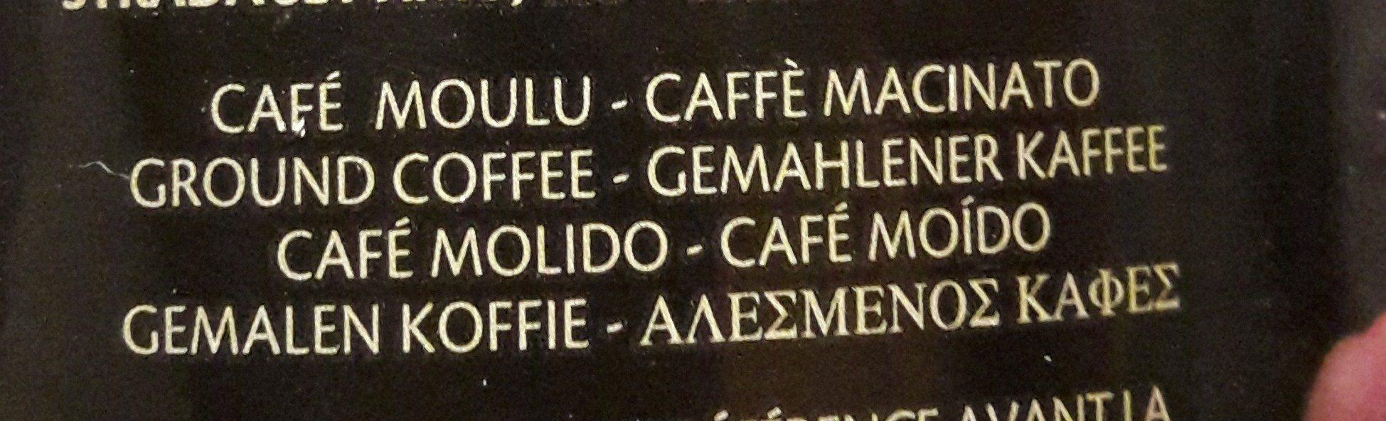 Boîte de café moulu 100% arabica. - Ingrédients - fr