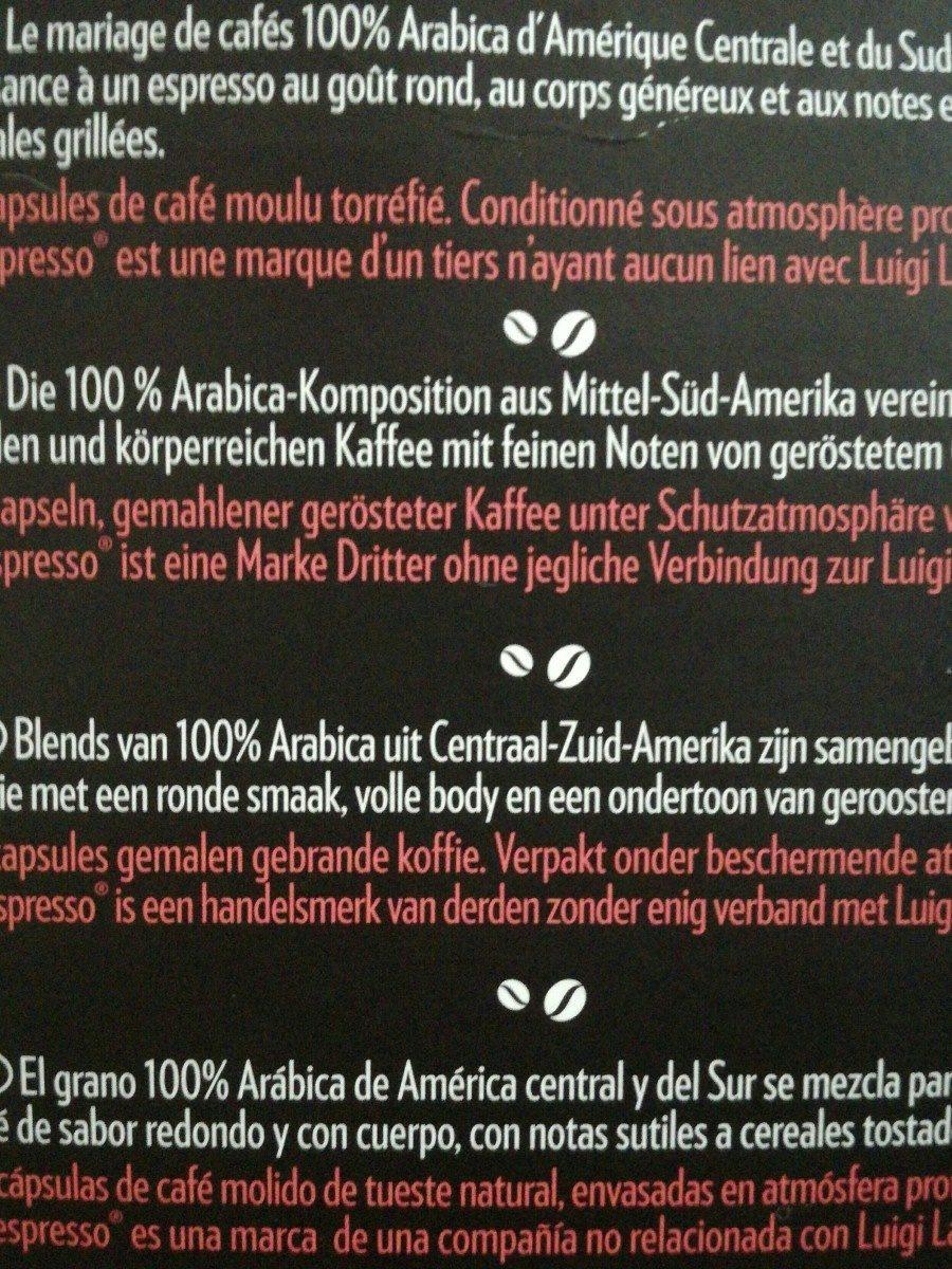 Café espresso Armónico intensidad 8 estuche 10 cápsulas - Ingrediënten