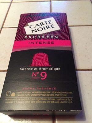 Café capsules Intense n°9 - Espresso - Product