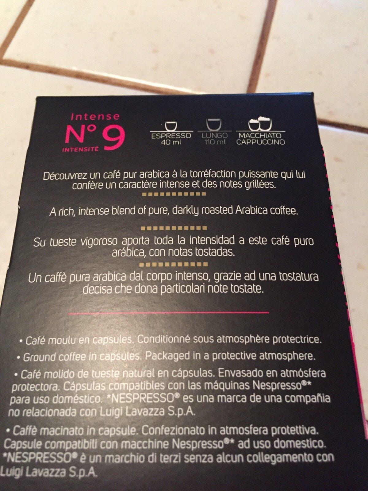 Café capsules Intense n°9 - Espresso - Ingredients - fr