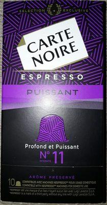 Café capsules Puissant n°11 - Espresso - Ingredients