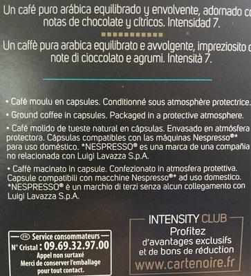 Café capsules Classique n°7 - Espresso - Nutrition facts
