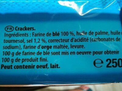 Cracker Premium Saiwa Non Salato - Ingrediënten