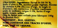 Mini crackers - Ingredients - fr