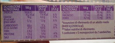 CEREALYO vitasnella - Nutrition facts