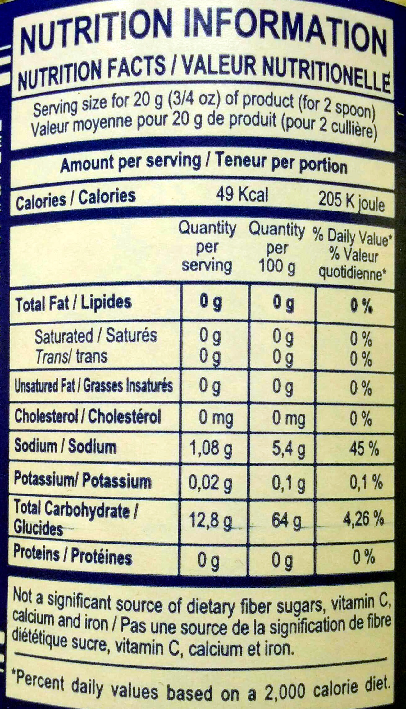 Effervescente al Limone - Nutrition facts - en