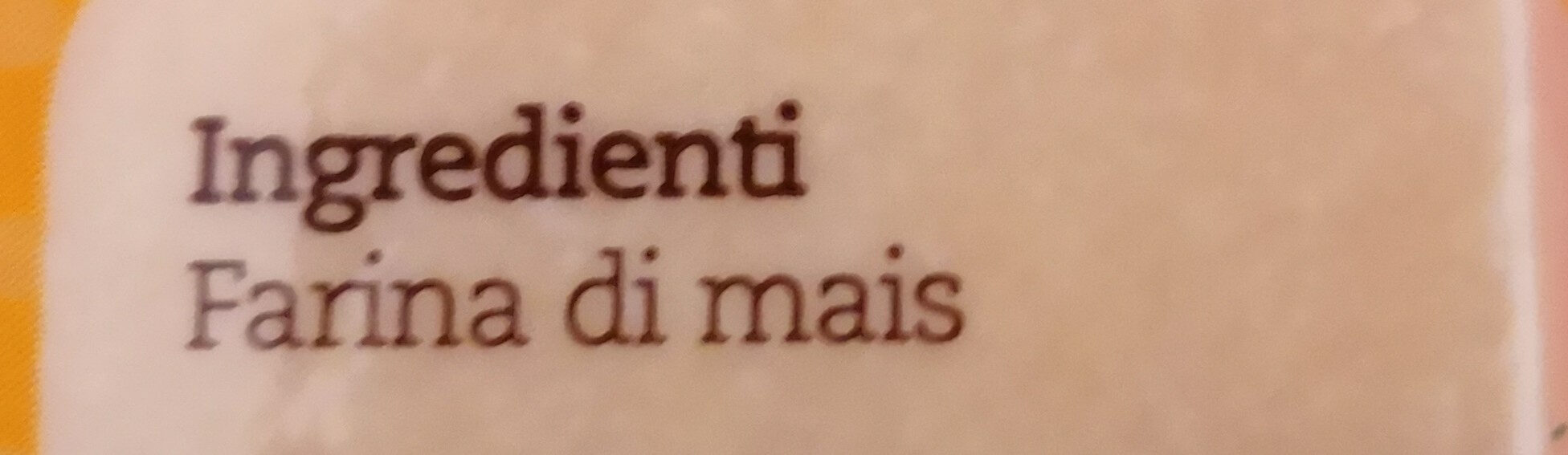 polenta bergamasca - Ingredients