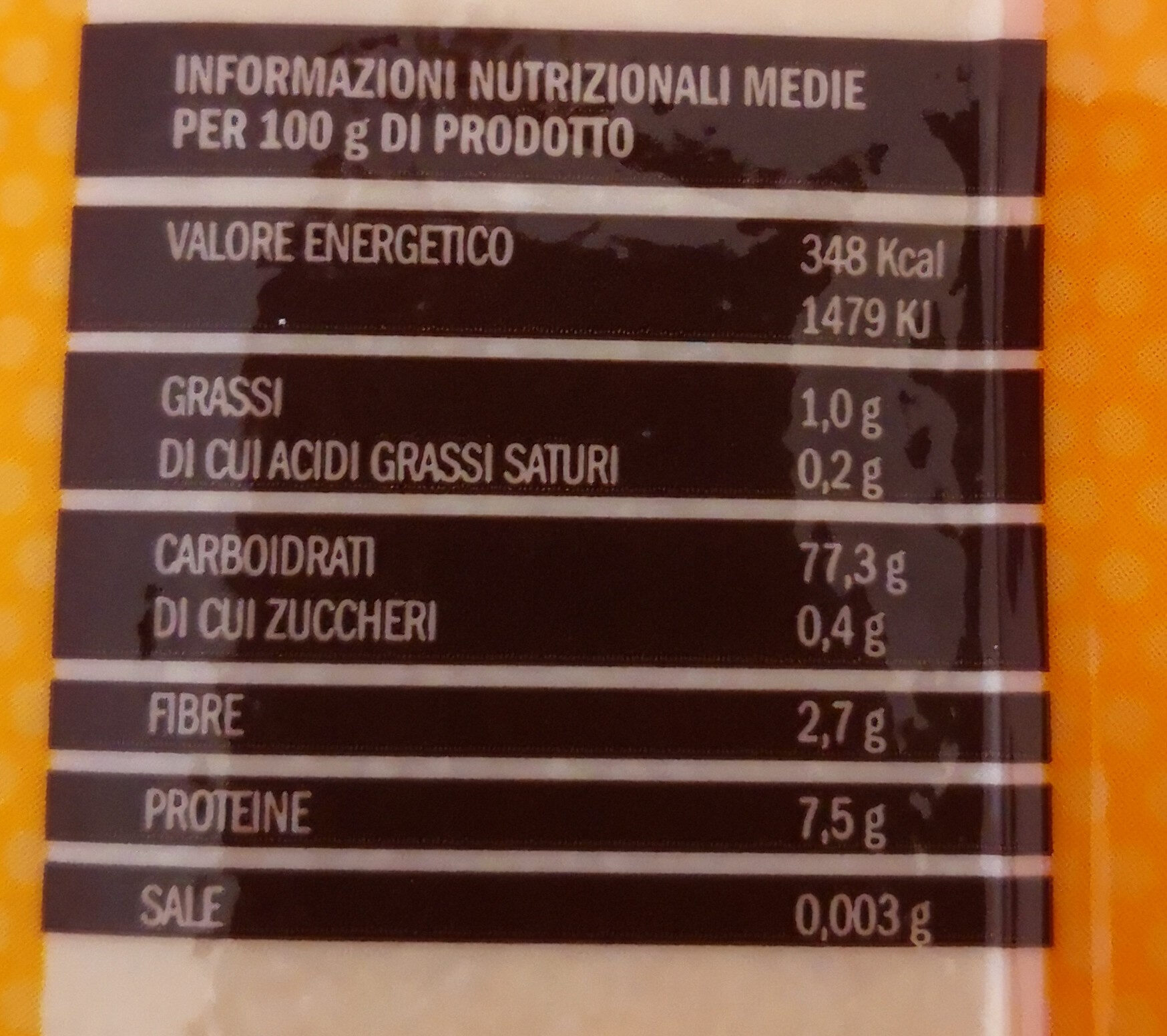 polenta bergamasca - Nutrition facts