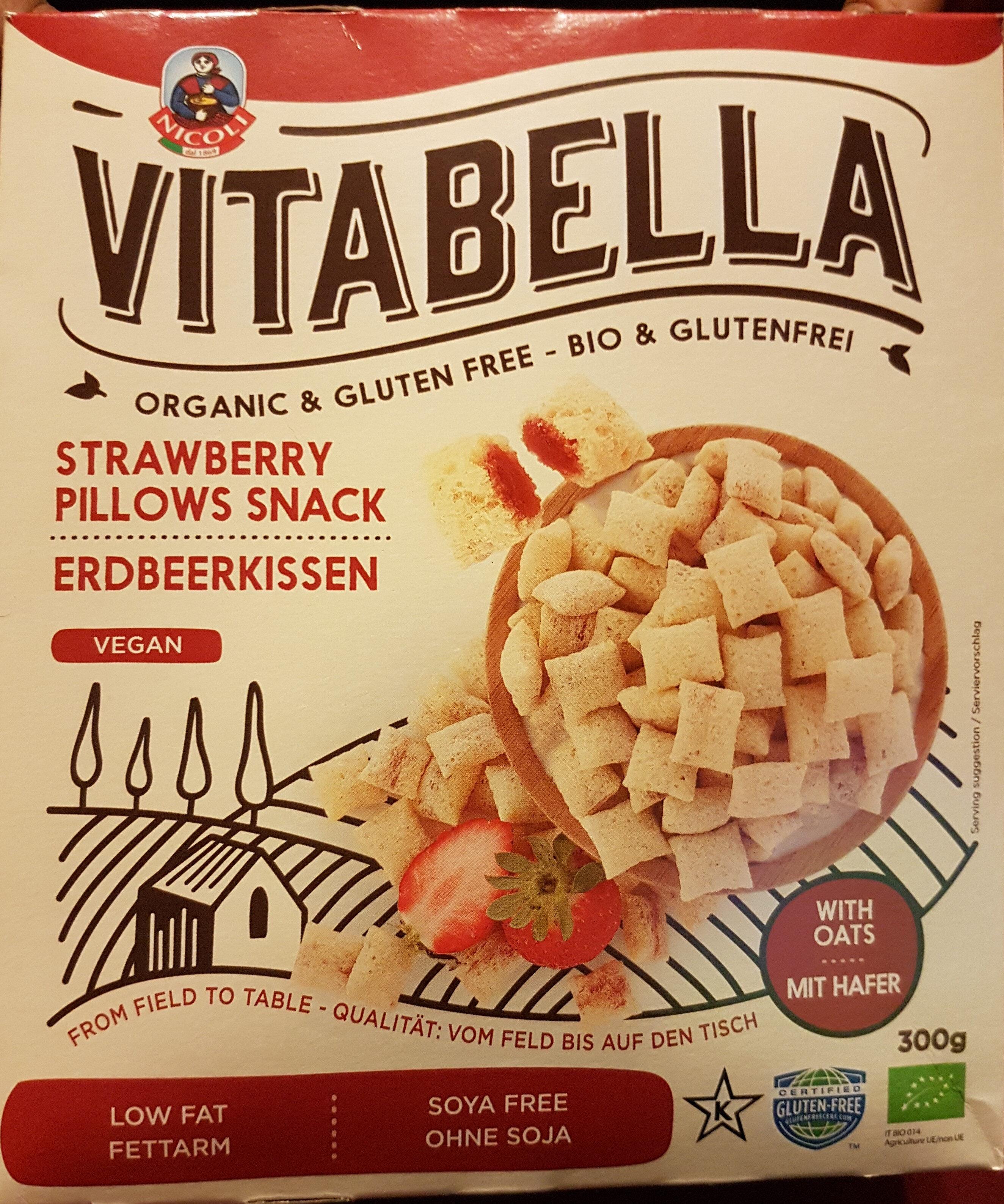 Strawberry pillow snack vegan - Produit